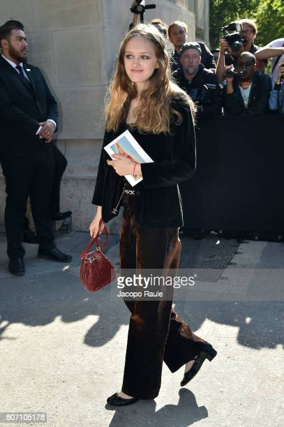 Lily Taieb is seen arriving at the 'Chanel' show during Paris Fashion Week Haute Couture Fall/Winter 20172018 on July 4 2017 in Paris France