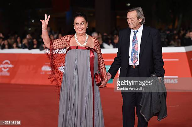Lily Tirinnanzi and Claudio De Davide attend the 'Andiamo A Quel Paese' red carpet during the 9th Rome Film Festival at Auditorium Parco Della Musica...