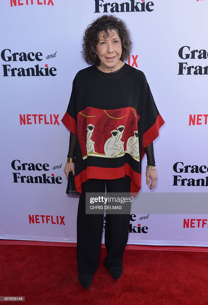 Lily Tomlin attends the Season 2 Premiere of Grace and Frankie, in Los Angeles, California, on May 1, 2016. / AFP / CHRIS