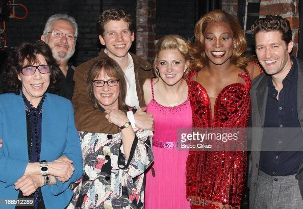 Lily Tomlin Harvey Fierstein Patti LuPone Stark Sands Annaleigh Ashford Billy Porter as 'Lola' and Matthew Morrison pose backstage at the hit musical...