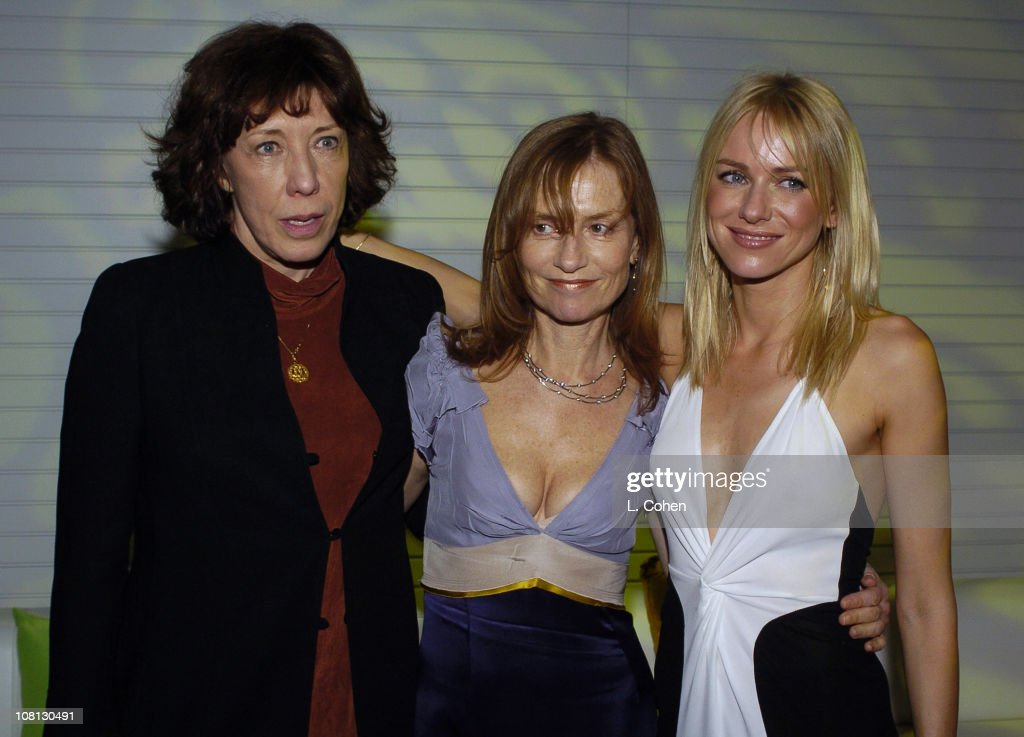<a gi-track='captionPersonalityLinkClicked' href=/galleries/search?phrase=Lily+Tomlin&family=editorial&specificpeople=208236 ng-click='$event.stopPropagation()'>Lily Tomlin</a> <a gi-track='captionPersonalityLinkClicked' href=/galleries/search?phrase=Isabelle+Huppert&family=editorial&specificpeople=662796 ng-click='$event.stopPropagation()'>Isabelle Huppert</a> and <a gi-track='captionPersonalityLinkClicked' href=/galleries/search?phrase=Naomi+Watts&family=editorial&specificpeople=171723 ng-click='$event.stopPropagation()'>Naomi Watts</a> during Details Magazine and GUESS? -I Heart Huckabees LA Premiere - After Party at The Grove in Los Angeles, California, United States.