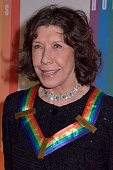 Lily Tomlin walks the red carpet during the 27th Annual Kennedy Center Honors at John F Kennedy Center for the Performing Arts on December 7 2014 in...