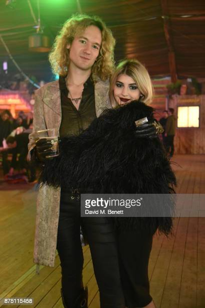Lilyella Zender and Joe Mutch attend the VIP launch of Hyde Park Winter Wonderland 2017 on November 16 2017 in London England