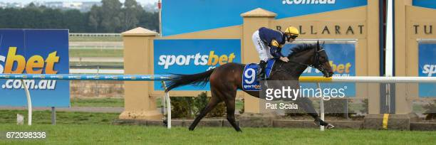 Lilymorn ridden by Patrick Moloney wins the OTI Maiden Plate at SportsbetBallarat Racecourse on April 24 2017 in Ballarat Australia
