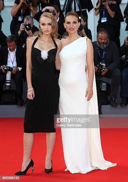 LilyRose Depp and Natalie Portman attend the premiere of 'Planetarium' during the 73rd Venice Film Festival a Sala Grande on September 8 2016 in...