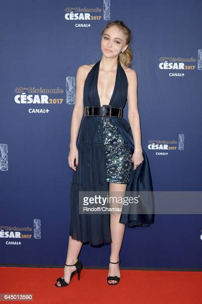LilyRose Depp arrives at the Cesar Film Awards Ceremony at Salle Pleyel on February 24 2017 in Paris France