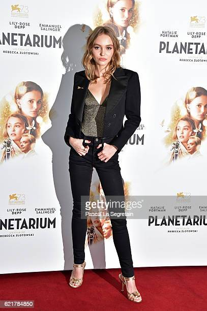 LilyRose Depp attends Planetarium Paris Premiere at Le Grand Rex on November 8 2016 in Paris France