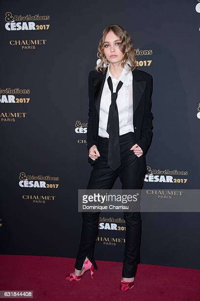 LilyRose Depp attends the Cesar Revelations 2017' Photocall at Salon Chaumet on January 16 2017 in Paris France