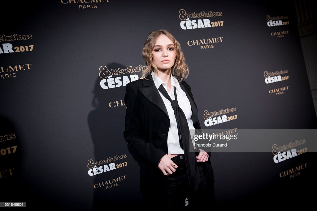 Lily-Rose Depp attends the Cesar Revelations 2017' Photocall at the Salon Chaumet on January 16, 2017 in Paris, France.