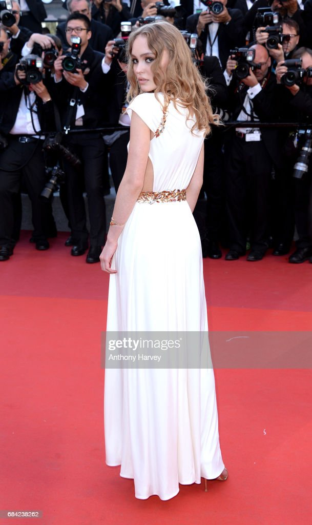 Lily-Rose Depp attends the 'Ismael's Ghosts (Les Fantomes d'Ismael)' screening and Opening Gala during the 70th annual Cannes Film Festival at Palais des Festivals on May 17, 2017 in Cannes, France.