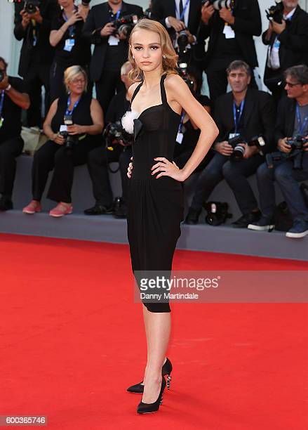 LilyRose Depp attends the premiere of 'Paradise' during the 73rd Venice Film Festival a Sala Grande on September 8 2016 in Venice Italy