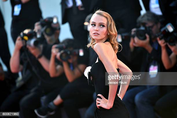 LilyRose Depp attends the premiere of 'Planetarium' during the 73rd Venice Film Festival a Sala Grande on September 8 2016 in Venice Italy