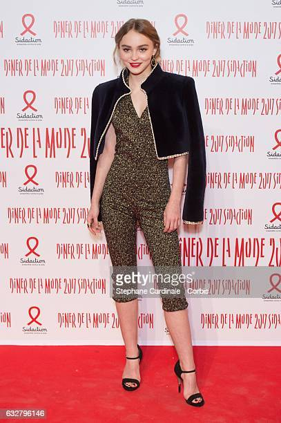 LilyRose Depp attends the Sidaction Gala Dinner 2017 as part of Paris Fashion Week on January 26 2017 in Paris France