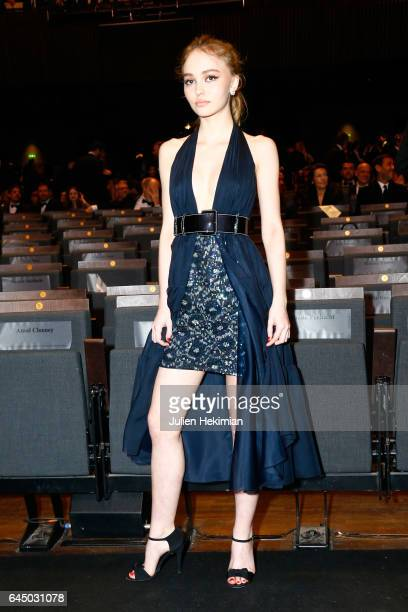 LilyRose Depp poses during the Cesar Film Awards Ceremony at Salle Pleyel on February 24 2017 in Paris France