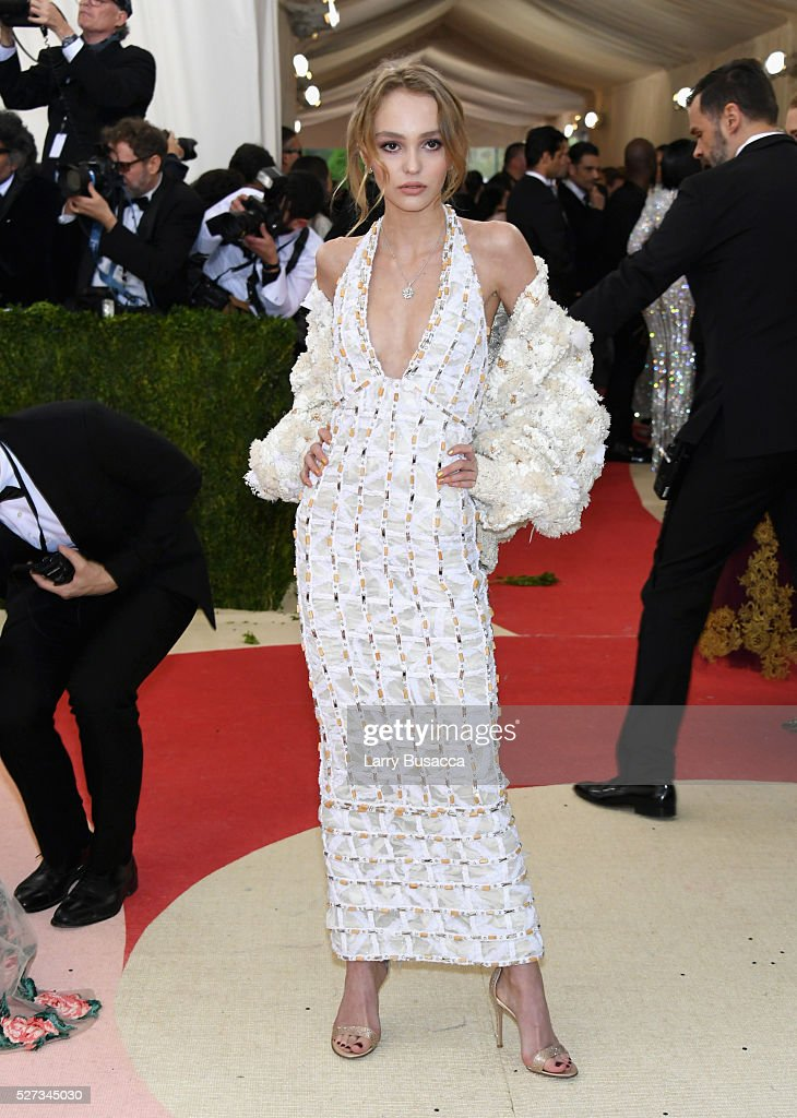 Lily-Rose Melody Depp attends the 'Manus x Machina: Fashion In An Age Of Technology' Costume Institute Gala at Metropolitan Museum of Art on May 2, 2016 in New York City.