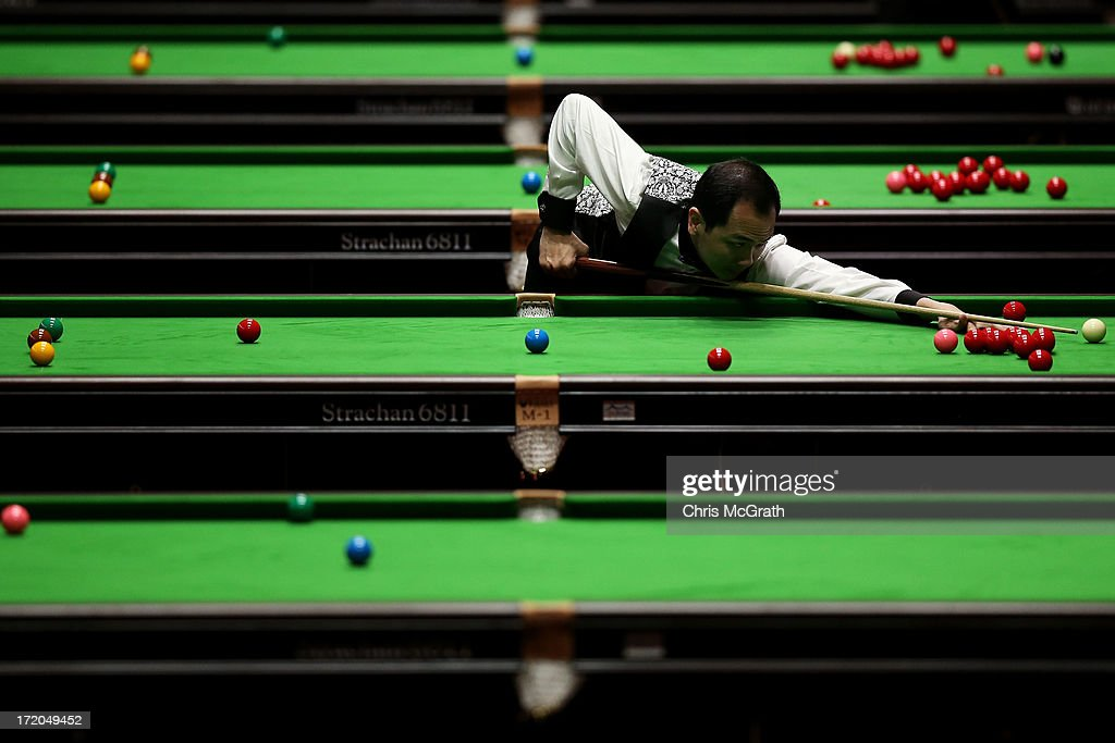 Lim Chun Kiat of Singapore plays a shot during his Men's Snooker Team Round of 16 Match against Malaysia at Songdo Convensia on day three of the 4th Asian Indoor & Martial Arts Games on July 1, 2013 in Incheon, South Korea.