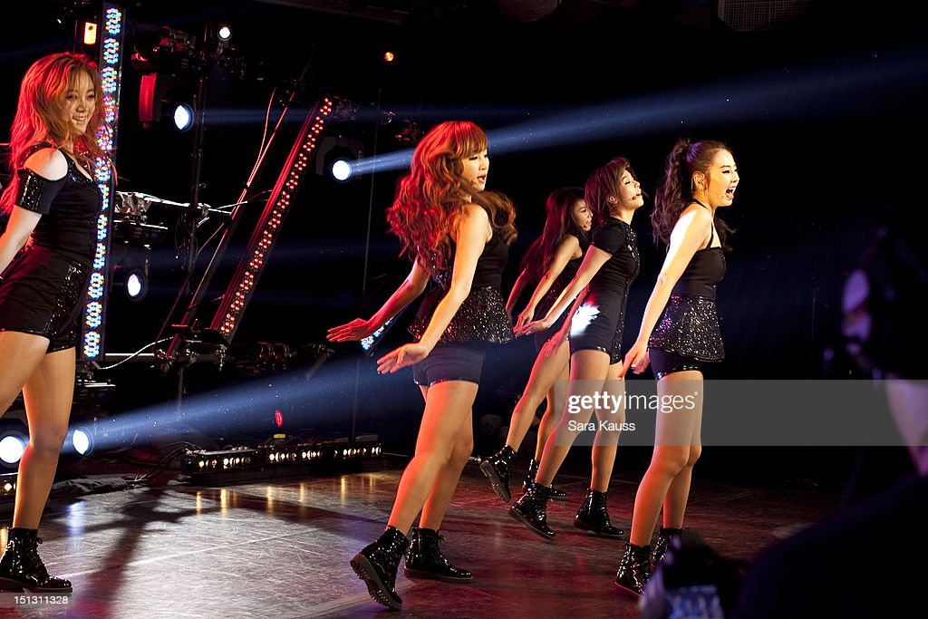 Lim, Yenny, Yubin, Sun and Sohee of Wonder Girls perform onstage at iHeartRadio Presents Wonder Girls at iHeartRadio Performance Theater on September 5, 2012 in New York City.