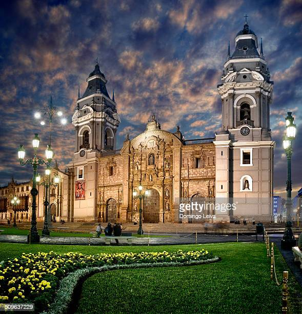 Lima Cathedral and Plaza de Armas. Peru