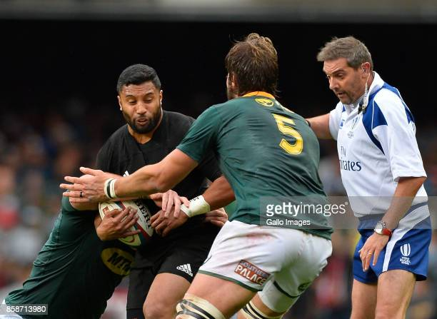 Lima Sopoaga of New Zealand during the Rugby Championship 2017 match between South Africa and New Zealand at DHL Newlands on October 07 2017 in Cape...