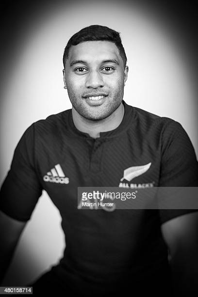Lima Sopoaga poses during the New Zealand All Blacks portrait session at The George Hotel on July 10 2015 in Christchurch New Zealand