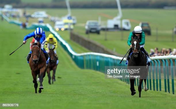 Limato ridden by Harry Bentley wins the Godolphin Stud and Stable Staff Awards Challenge Stakes ahead of Massaat ridden by Jim Crowley during day one...