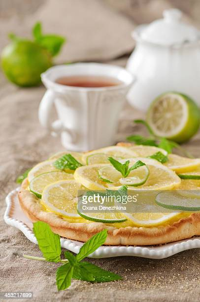 Lime and lemone tart