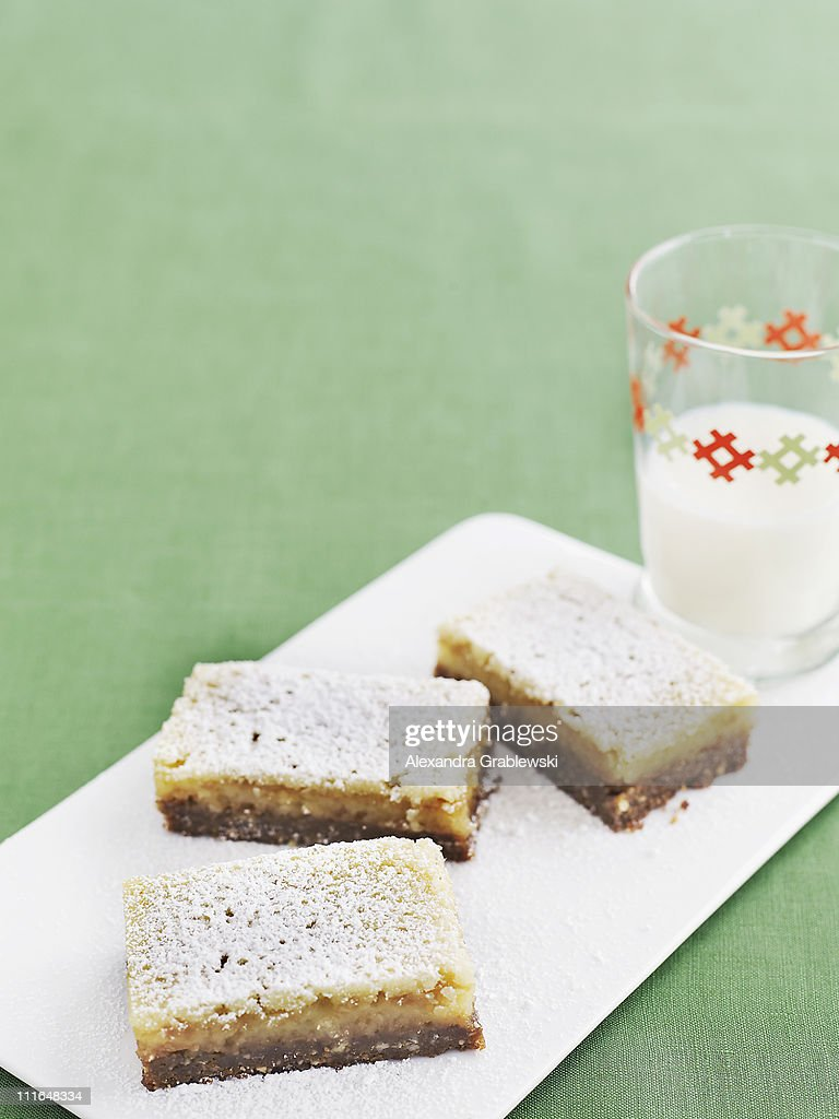 Lime Bars on White Tray : Stock Photo
