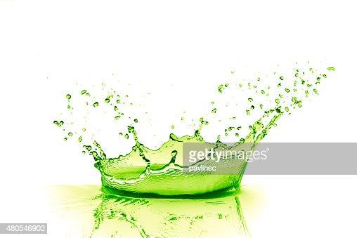 Lima bebida splash : Foto de stock