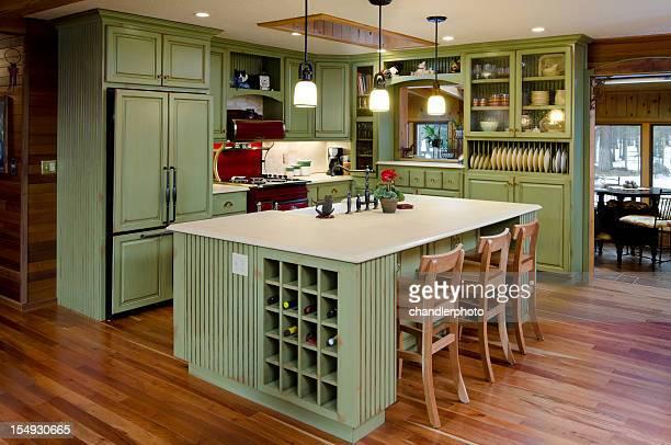 Limettengrün moderne Küche.