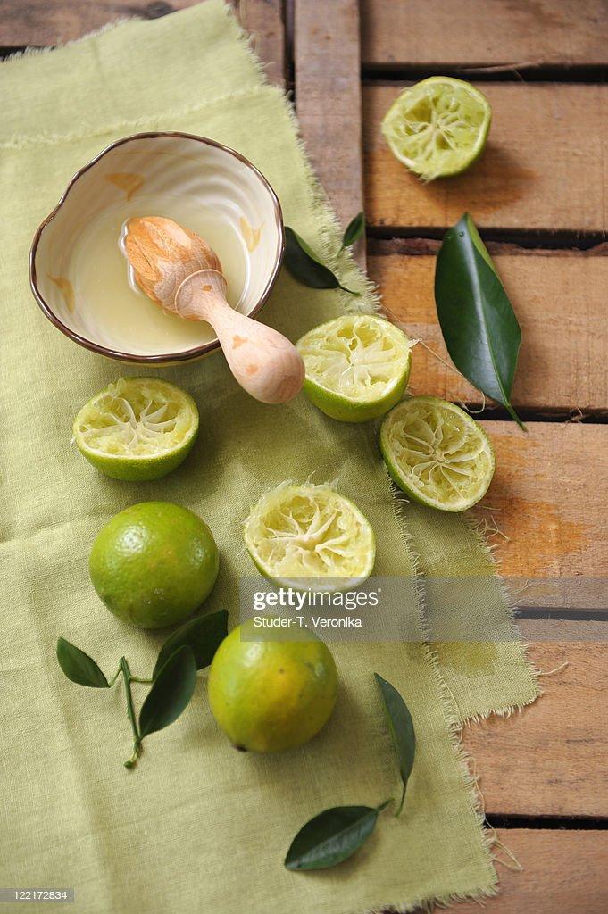 Lime juice : Stock Photo