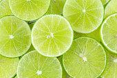 fresh green lime sliced background