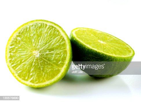 Lime sliced in half