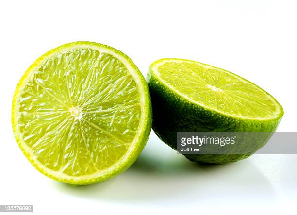 Lime sliced in half