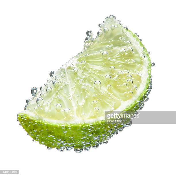 lime wedge with bubbles