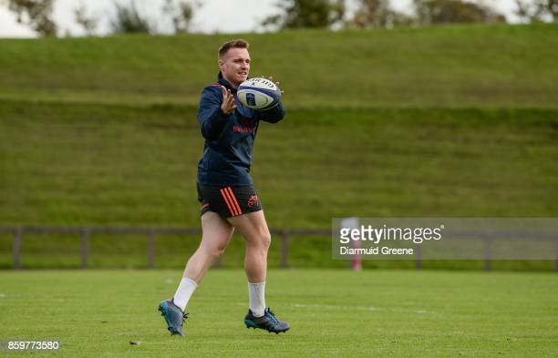 Limerick Ireland 10 October 2017 Rory Scannell of Munster during Munster Rugby Squad Training at the University of Limerick in Limerick
