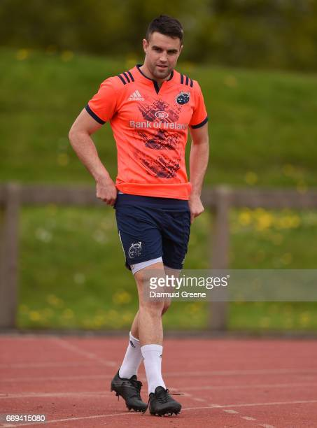 Limerick Ireland 17 April 2017 Conor Murray of Munster makes his way out for squad training at the University of Limerick in Limerick