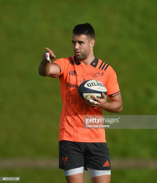 Limerick Ireland 17 October 2017 Conor Murray of Munster during Munster Rugby Squad Training at the University of Limerick in Limerick