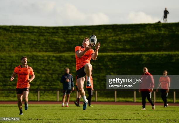 Limerick Ireland 17 October 2017 Rory Scannell of Munster during Munster Rugby Squad Training at the University of Limerick in Limerick