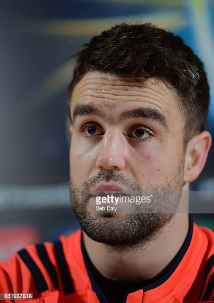 Limerick Ireland 18 January 2017 Conor Murray of Munster during a press conference at University of Limerick in Limerick