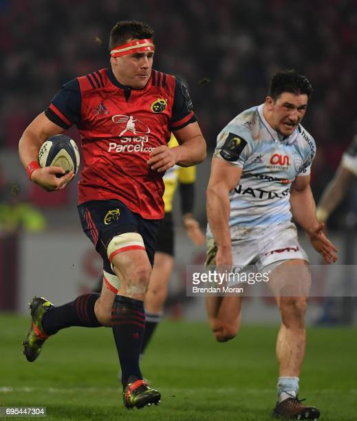 Limerick Ireland 21 January 2017 CJ Stander of Munster in action during the European Rugby Champions Cup Pool 1 Round 6 match between Munster and...