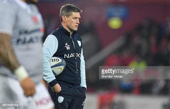 Limerick Ireland 21 January 2017 Racing 92 defence coach Ronan O'Gara ...