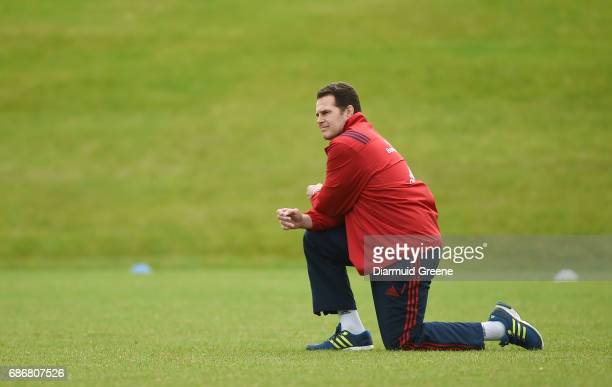 Limerick Ireland 22 May 2017 Munster director of rugby Rassie Erasmus during Munster Rugby squad training at the University of Limerick in Limerick
