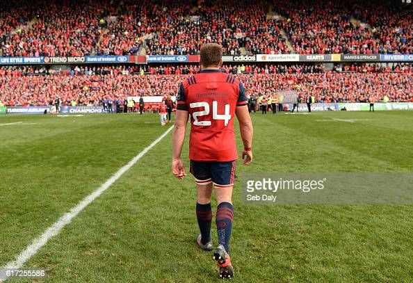 Limerick Ireland 22 October 2016 CJ Stander of Munster wearing shirt number 24 after number 8 was retired for the match as a tribute to former...