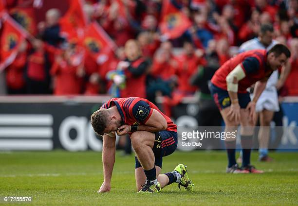 Limerick Ireland 22 October 2016 Jaco Taute of Munster reacts at the final whistle following the European Rugby Champions Cup Pool 1 Round 2 match...