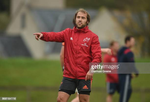 Limerick Ireland 30 October 2017 Duncan Williams of Munster during Munster Rugby Squad Training at the University of Limerick in Limerick