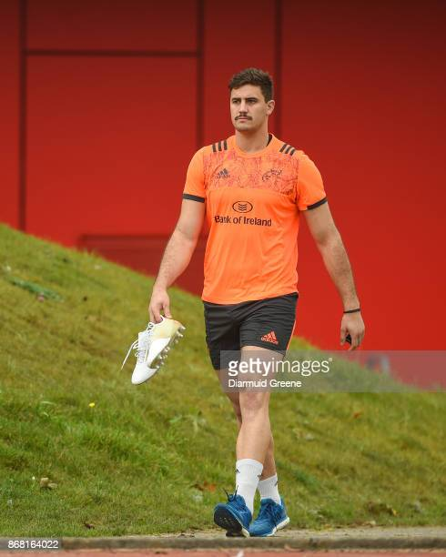 Limerick Ireland 30 October 2017 Gerbrandt Grobler of Munster make his way out for Munster Rugby Squad Training at the University of Limerick in...
