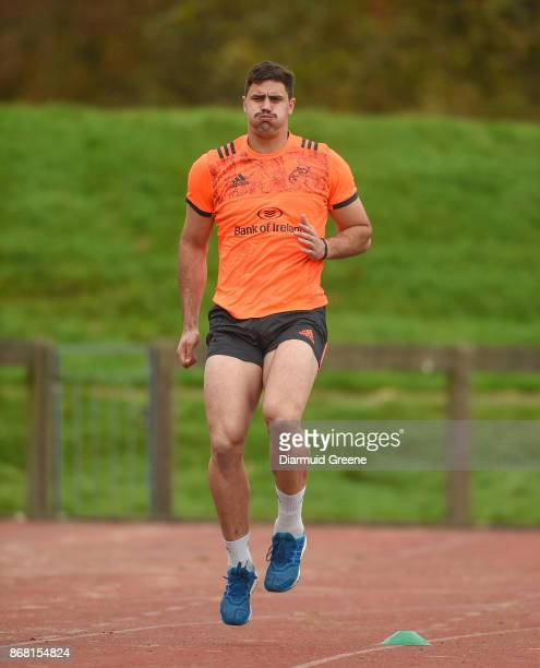 Limerick Ireland 30 October 2017 Gerbrandt Grobler of Munster trains separate from teammates during Munster Rugby Squad Training at the University of...