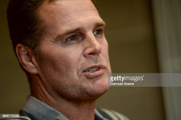 Limerick Ireland 30 October 2017 Munster director of rugby Rassie Erasmus during a press conference at the University of Limerick in Limerick