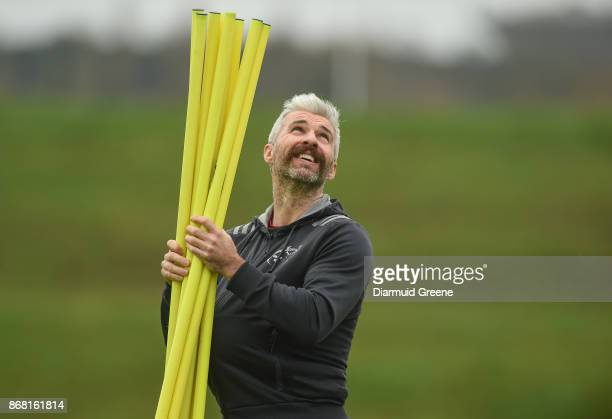 Limerick Ireland 30 October 2017 Munster head of fitness Aled Walters during Munster Rugby Squad Training at the University of Limerick in Limerick