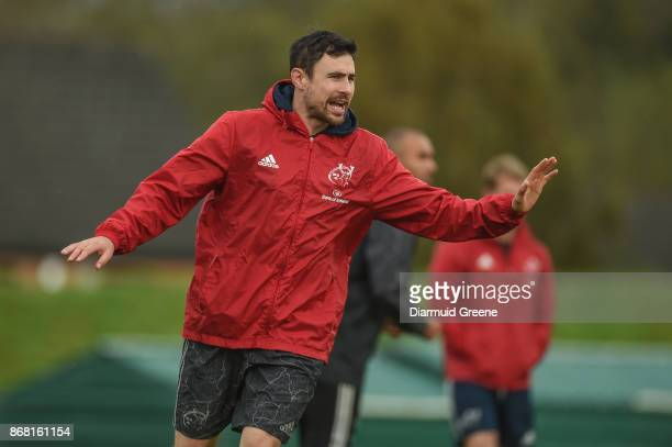 Limerick Ireland 30 October 2017 Munster technical coach Felix Jones during Munster Rugby Squad Training at the University of Limerick in Limerick